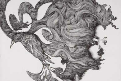 cropped-gabriel-moreno-woman-bird-hybrid-art-pen-and-ink-illustration-beautiful-portrait
